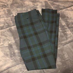 Loft plaid skinny pants